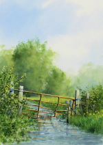 Watercolour: Agricultural Recycling - Stiffkey Valley