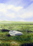 Watercolour - Amongst the Vegetation, Blakeney