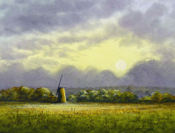 Watercolour - Looking Inland, Broadland